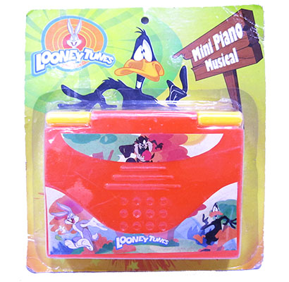 TECLADO/PIANO MINI MUSICAL LOONEY TUNES 8.5X10.5CM