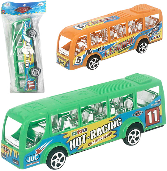 ONIBUS A FRICCAO HOT RACING COLORS NA SOLAPA WELLKIDS