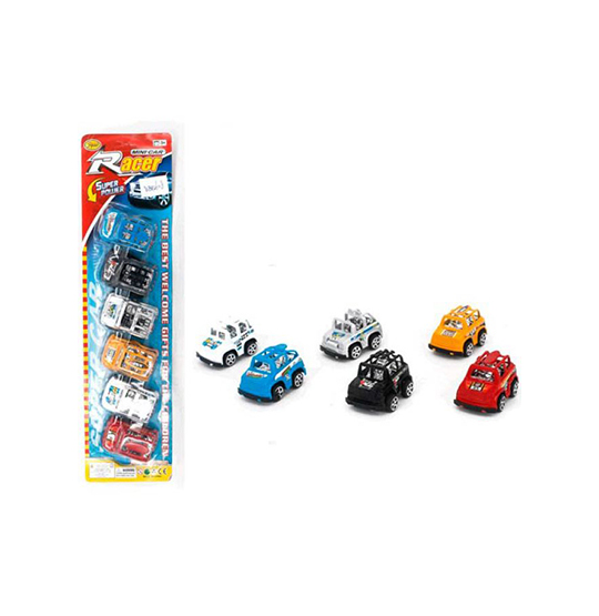 CARRO A FRICCAO MIN SUPER POWER RACER COLORS KIT COM 6 PECAS NA CARTELA WELLKIDS