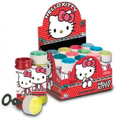 BOLHA DE SABAO HELLO KITTY COM JOGO 60ML 0,38ØX114MM