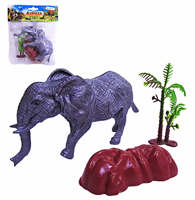 KIT ANIMAL SELVAGEM DE PLASTICO COM 3 PECAS PUZZLE
