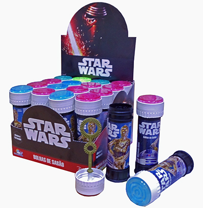 BOLHA DE SABAO STAR WARS COM JOGO 60ML 0,38ØX114MM