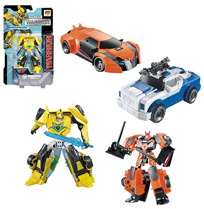 ROBO TRANSFORME CARRO/DINOSSAURO WARRIOR COLORS