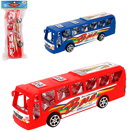 ONIBUS A FRICCAO BUS EXPRESS COLORS NA SOLAPA WELLKIDS