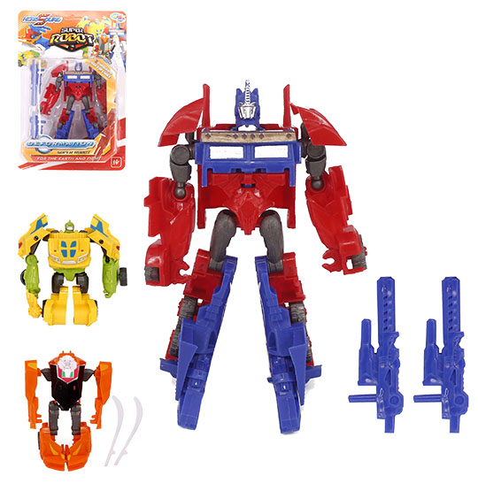 ROBO TRANSFORME CARRO HERO SQUAD DEFORMATION COLORS NA CARTELA WELLKIDS