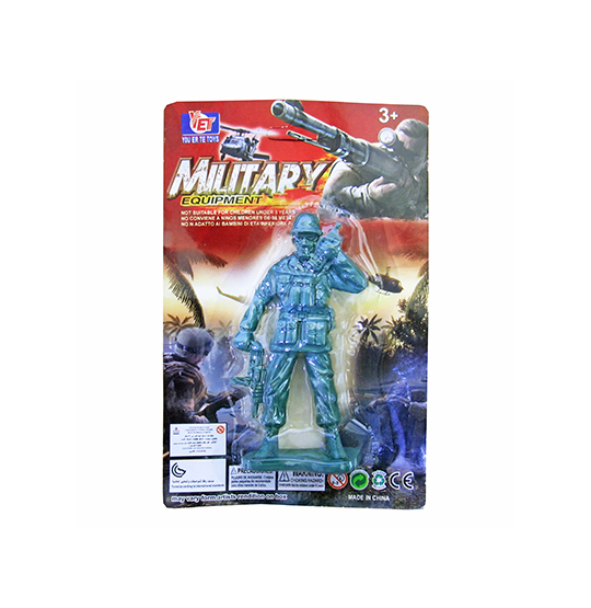 BONECO SOLDADO MILITARY EQUIPMENT COLORS