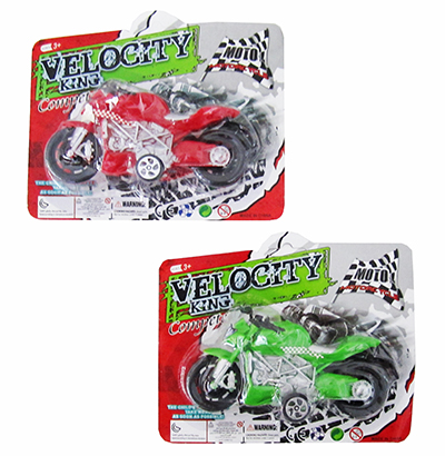 MOTO A FRICCAO VELOCITY KING COLORS NA CARTELA