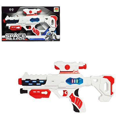 PISTOLA SPACE WEAPON SUPER COM SOM E LUZ A PILHA