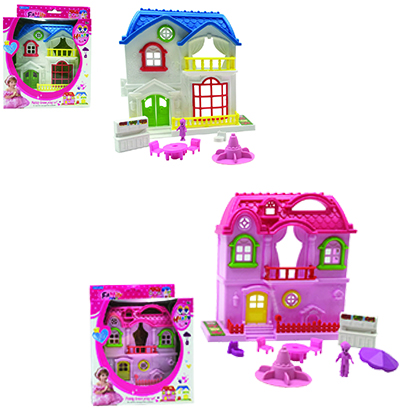 CASA/CASINHA FAMILY NEW COLORS COM KIT MOVEIS INFANTIL NA CAIXA