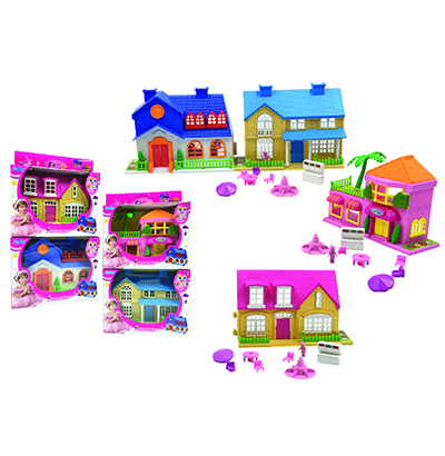 CASA/CASINHA FAMILY NEW SORTIDAS COM KIT MOVEIS INFANTIL NA CAIXA