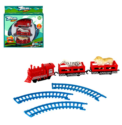 TREM / FERRORAMA EXPRESS TRAIN SET COLORS COM ANIMAIS A PILHA NA CAIXA