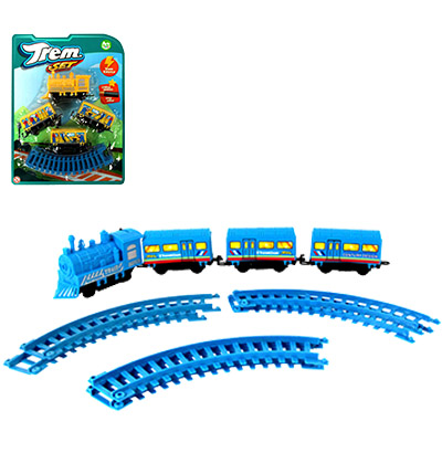 TREM / FERRORAMA EXPRESS TRAIN SET COLORS A PILHA NA CARTELA