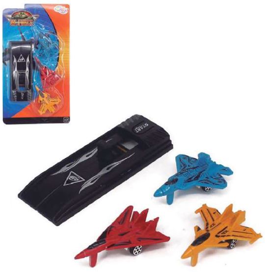 AVIAO / CARRO COM LANCADOR FIGTHER COLORS KIT COM 4 PECAS NA CARTELA WELLKIDS