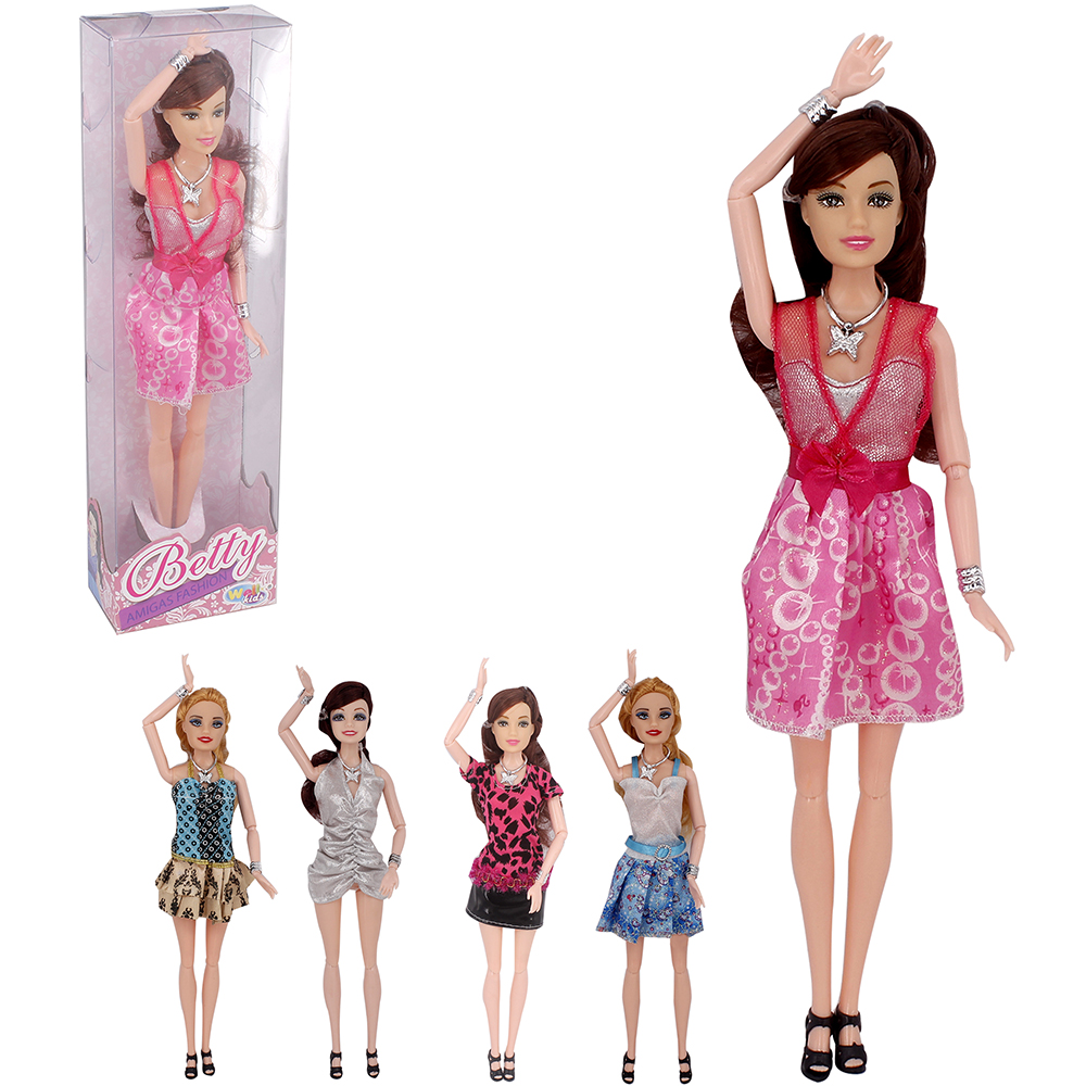 BONECA BETTY AMIGAS FASHION SORTIDAS NA CAIXA WELLKIDS