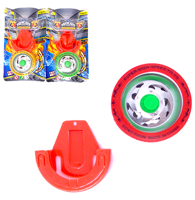 IOIO (YOYO) BEY BLADE SUPER SPEED COLORS COM SUPORTE PARA CINTA NA CARTELA