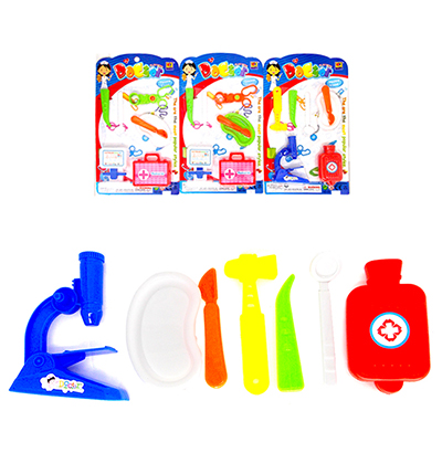 KIT MEDICO DOCTOR PLAY SET COM ACESSORIOS SORTIDOS NA CARTELA