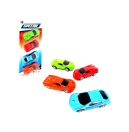 CARRO A FRICCAO SPECIAL RACE COLORS KIT COM 4 PECAS NA CARTELA