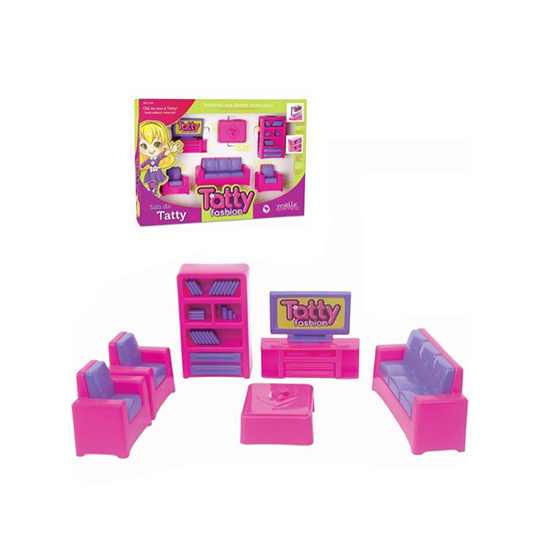 KIT MOVEIS INFANTIL SALA DA TATTY COM SOFA / ESTANTE / MESA NA CAIXA
