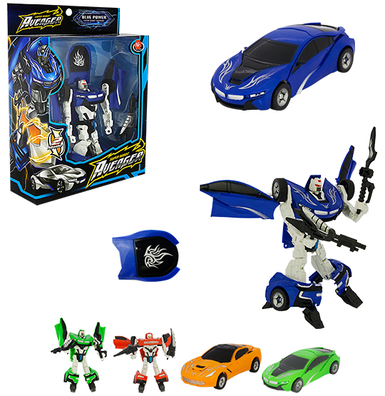 ROBO TRANSFORME CARRO HERO SQUAD WARRIOR COM ACESSORIO COLORS NA CAIXA WELLKIDS