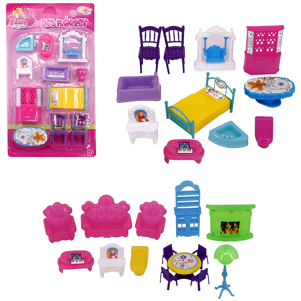 KIT MOVEIS INFANTIL COM SOFA E ACESSORIOS BEAUTIFUL GIRL 11 PECAS WELLKIDS