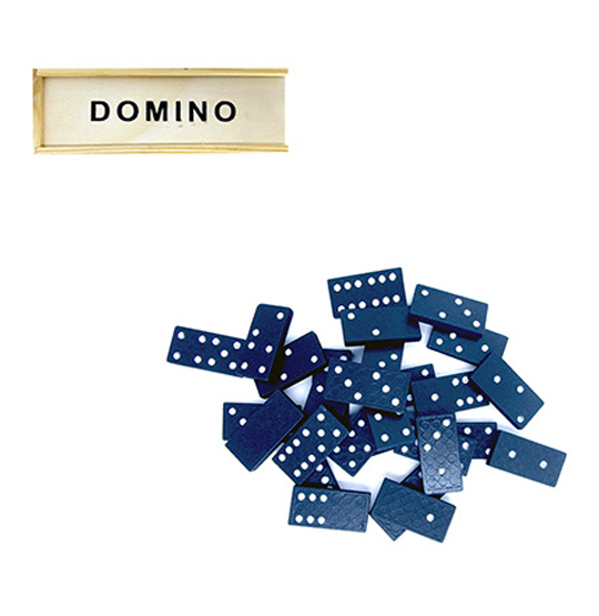 DOMINO DE MADEIRA 40X20X5MM NO ESTOJO