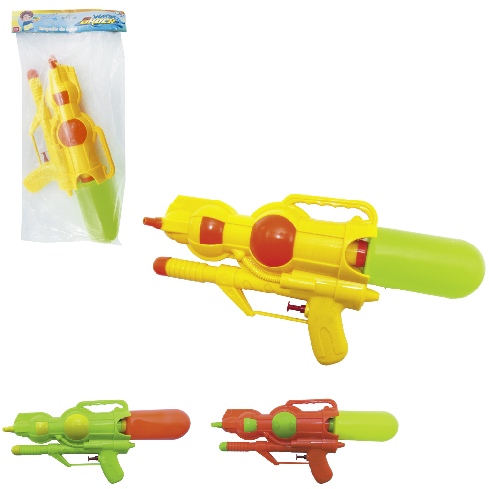 PISTOLA LANCA AGUA 3 JATOS WATER SHOCH COLORS 32X5,5X15CM SUMMER FUN