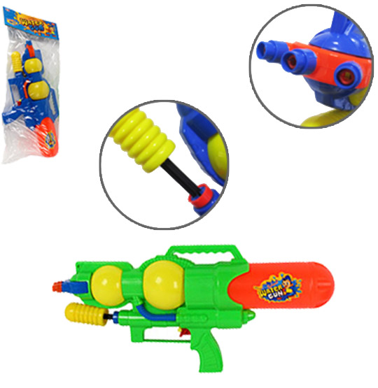 PISTOLA LANCA AGUA MACHINE GUN 3 JATOS COLORS 40CM