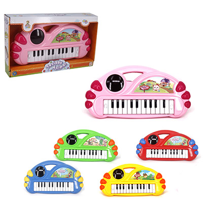 TECLADO/PIANO MUSICAL ANIMAL COM SOM E LUZ 3D A PILHA WELLKIDS