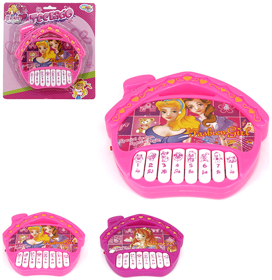 TECLADO / PIANO MUSICAL INFANTIL CASINHA GLAM GIRLS A PILHA NA CARTELA WELLKIDS
