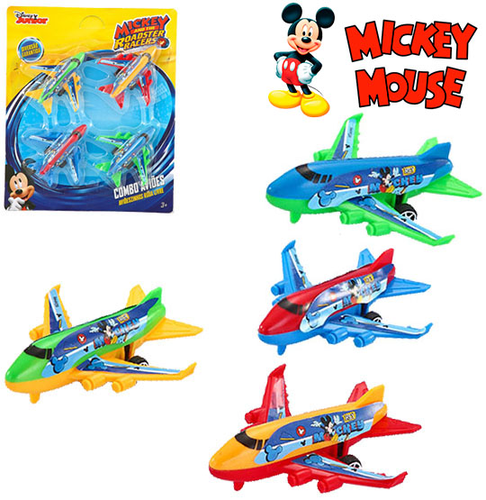 COMBO AVIOES COLORS KIT COM 4 PECAS MICKEY NA CARTELA