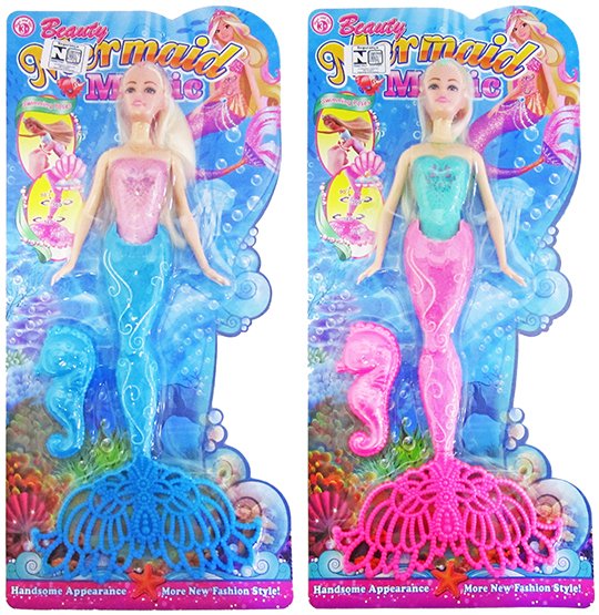 BONECA SEREIA ARTICULADA BEAUTY MAGIC COLORS COM ACESSORIO NA CARTELA