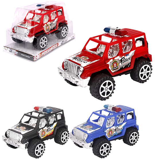 CARRO JEEP A FRICCAO POLICIA POSSANTES COLORS WELLKIDS