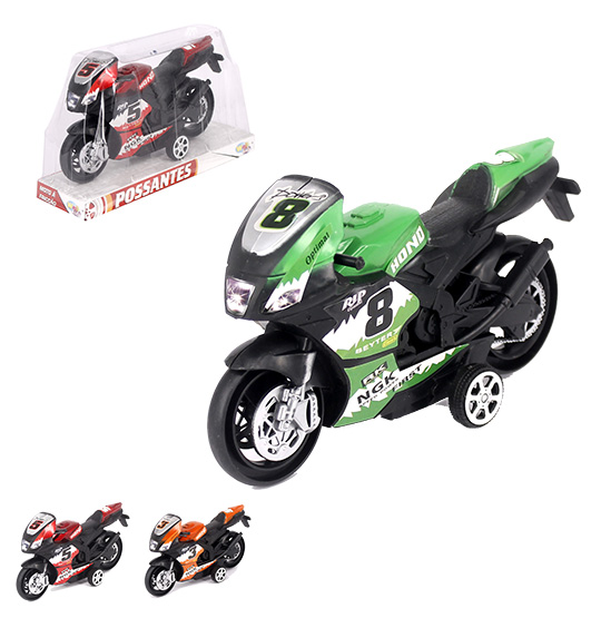 MOTO A FRICCAO RACCER HOND POSSANTES COLORS WELLKIDS