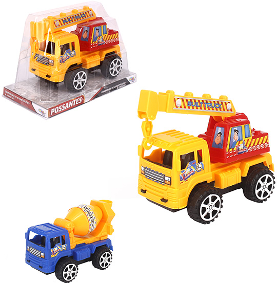 CAMINHAO CONSTRUCAO A FRICCAO TRUCK POSSANTES COLORS WELLKIDS