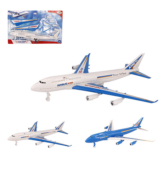 AVIAO A FRICCAO POWER AIR PLANE AIRBUS COLORS NA CARTELA WELLKIDS