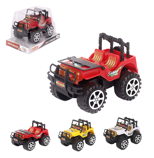CARRO JEEP A FRICCAO RALLY RACING SUPER POSSANTES COLORS WELLKIDS