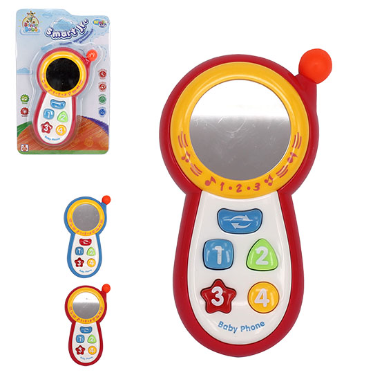 CELULAR MUSICAL INFANTIL BABY SMART JR COLORS COM LUZ A PILHA NA CARTELA WELLKIDS