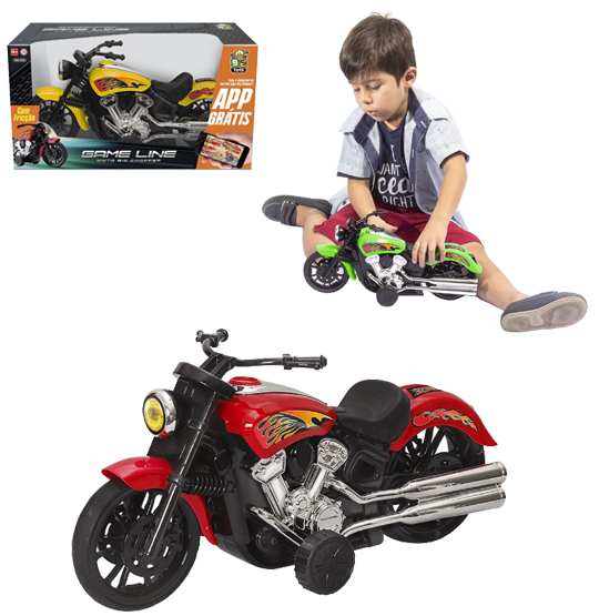 MOTO BIG CHOPPER A FRICCAO COLORS NA CAIXA