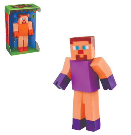 BONECO SUPER BLOCKS ARTICULADO COLORS NA CAIXA