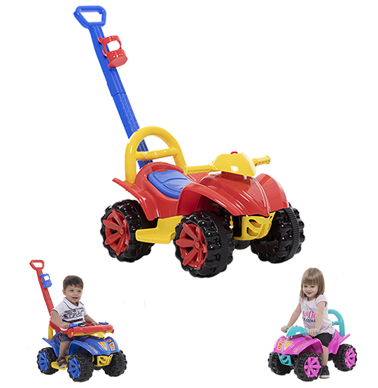 QUADRICICLO TOY KIDS 2 EM 1 COLORS