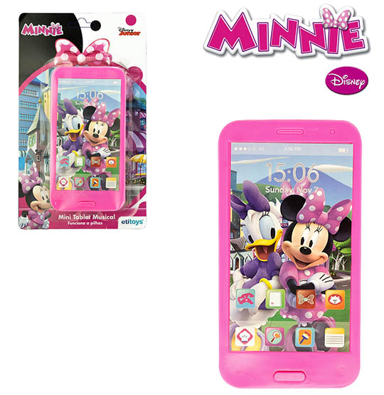 MINI TABLET MUSICAL MINNIE A PILHA NA CARTELA