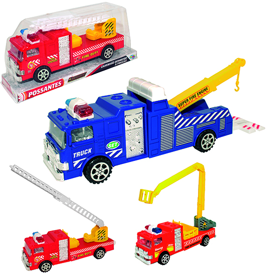 CAMINHAO BOMBEIRO A FRICCAO POSSANTES SUPER FIRE ENGINE COLORS