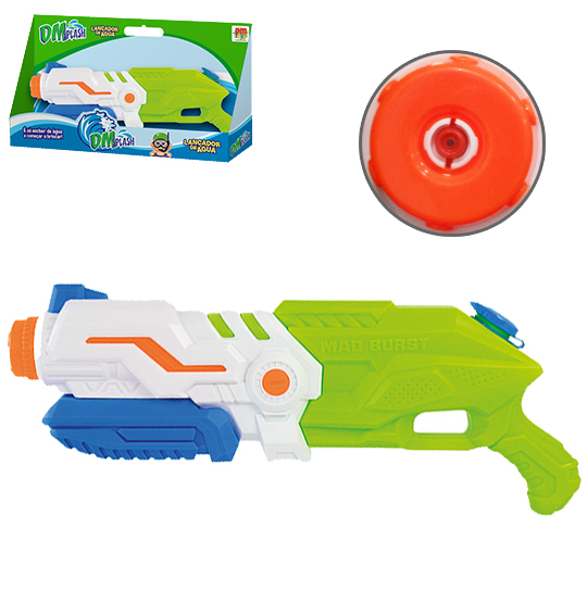 PISTOLA LANCA AGUA DM SPLASH MAD BURST COLORS 47CM NA CAIXA