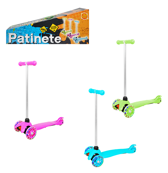 PATINETE COM 3 RODAS TWIST RADICAL COLORS + LUZ NA CAIXA