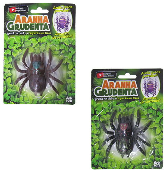 ARANHA GRUDENTA DE PVC COLORS NA CARTELA