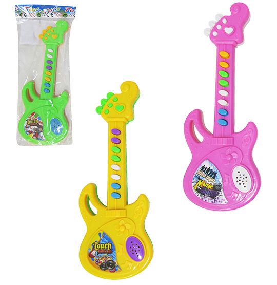 GUITARRA MUSICAL INFANTIL TOUCH MUSIC COLORS A PILHA NA SOLAPA