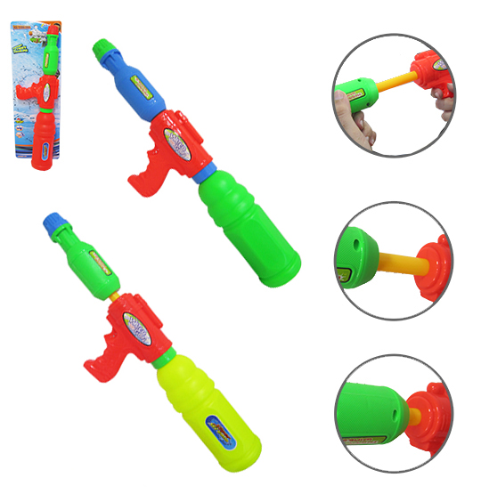 PISTOLA LANCA AGUA WATER GUN SUPER STREAM COLORS 45X13CM NA CARTELA