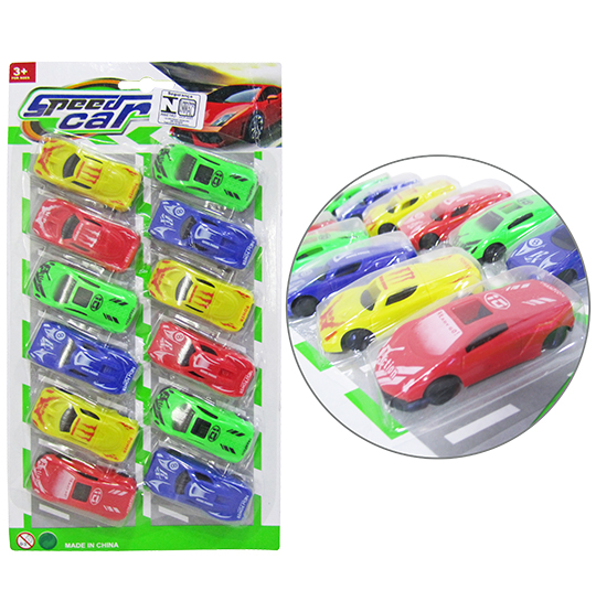 CARRINHO SPEED CAR NEW POWER RL COLORS KIT COM 12 PECAS NA CARTELA