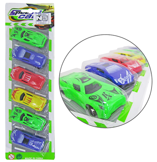 CARRINHO SPEED CAR NEW POWER RL COLORS KIT COM 6 PECAS NA CARTELA