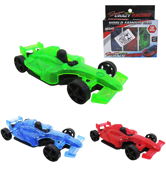 CARRO FORMULA 1 RL SUPER CRAZY RACING KIT COM 3 PECAS NA CARTELA